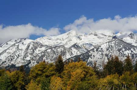 Mountains at Grand Teton National Park, Wyoming, USA photo