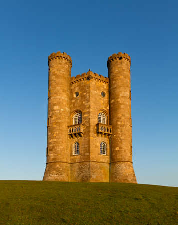 broadway tower: Broadway Tower before sunset, Cotswolds, UK Editorial