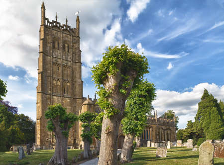 gloucestershire: St James church in Chipping Campden, Cotswolds, UK