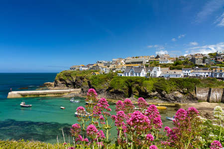verbs: Cove and harbour of Port Isaac, Cornwall, England Stock Photo