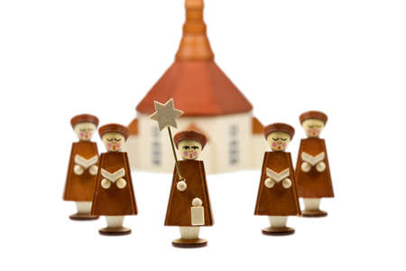 Handcrafted Carolers, produced in Erz Mountains, Germany