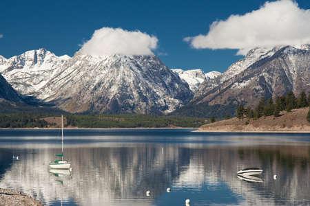 jenny: Jenny lake at Grand Teton National Park, Wyoming, USA
