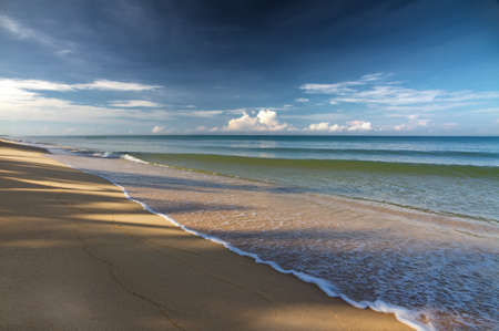 far off: Sand beach in Phu Quoc close to Duong Dong, Vietnam Stock Photo