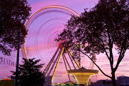 karlsruhe: Ferris wheel at county fair, Karlsruhe, Germany
