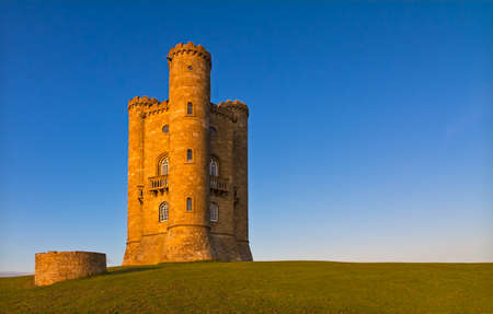 cotswold: Broadway Tower before sunset, Cotswolds, UK Stock Photo