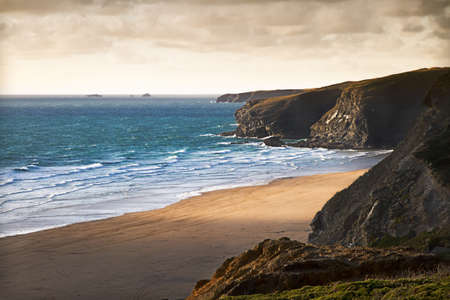 cornwall: Cornish coast near Newquay, Cornwall, England
