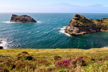 cornish: Coastline at Cornish coast near Boscastle, Cornwall, England Stock Photo