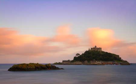St  Michaels Mount at dusk, Cornwall, England photo