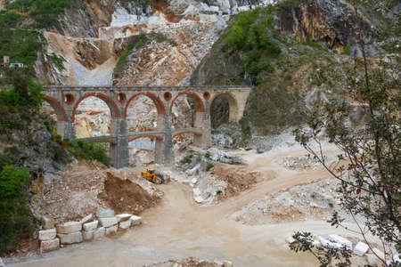 carrara: Marble quarry  Ponti di Vara  near Carrara, Tuscany, Italy