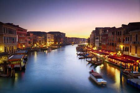 Canale Grande at dusk with vibrant sky, Venice, Italy Stock Photo - 19836530