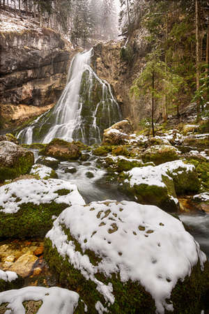 snowcapped: Gollinger Waterfall at wintertimes, Austria