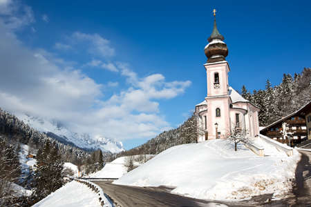 Maria Gern Church in Bavarian Alps, Berchtesgaden, Germany photo