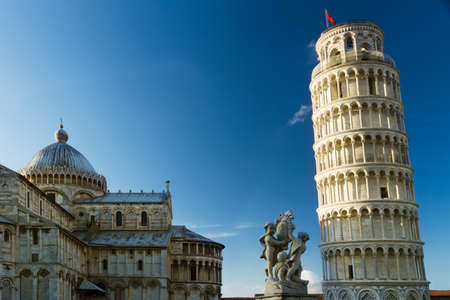 Piazza dei Miracoli with leaning tower, Pisa, Tuscany, Italy Reklamní fotografie