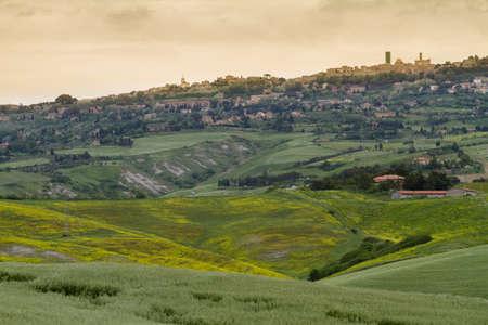 val dorcia: Tuscany landscape around Pienza, Val dOrcia, Italy Stock Photo