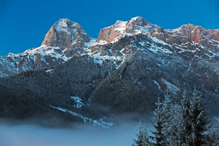 meer: Mountain Range Steinernes Meer in Alps at Dawn, Austria Stock Photo