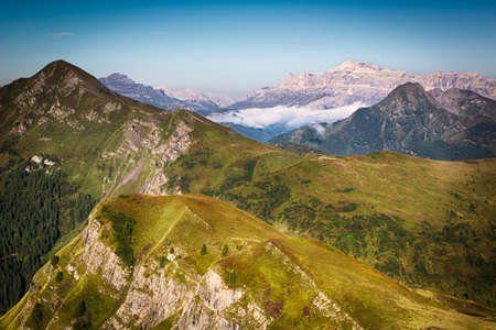 View from Passo Giau, Dolomites, Italian Alps Imagens