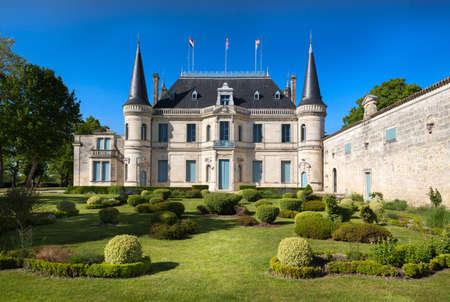 palmer: Garden of Chateau Palmer, Bordeaux, France Editorial