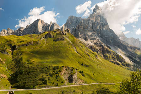 far off: Passo Rolle, Dolomites, Alps, Italy