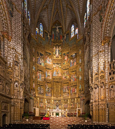 TOLEDO, SPAIN - MAY 2014: Altar of Toledo Cathedral