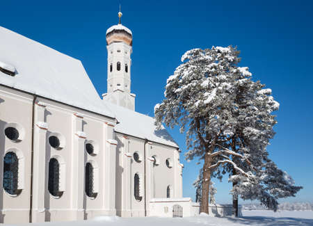 schwangau: Bavarian Church at wintertime, Germany