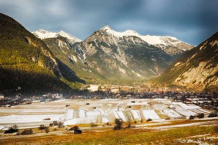 tirol: Alpine valley in Tirol, Austria Stock Photo
