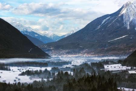 wintery: Wintery valley in Tirol, Austrian Alps