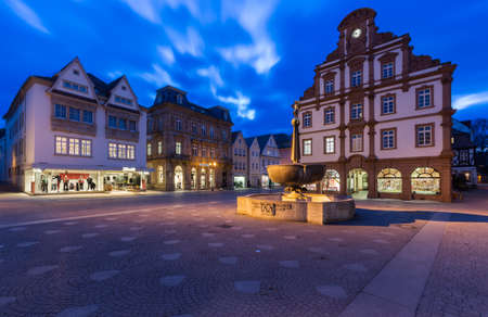 SPEYER, GERMANY - FEBRUARY 04, 2016: Historic center of Speyer - an old town where several the German Emperor were crowned