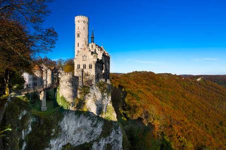 build in: LICHTENSTEIN, GERMANY - OCTOBER 19, 2014: The castle of Lichtenstein was build in the 19th century