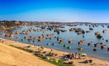 fishing village: Fishing village near Mui Ne at a sunny day, Vietnam