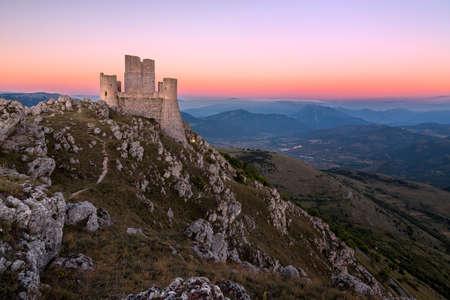 Rocca Calascio at dusk, Abruzzo, Italy