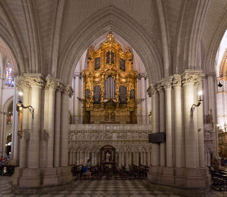 TOLEDO, SPAIN - MAY 19, 2014: Organ of Toledo cathedral