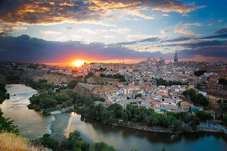 spain: Sunset in Toledo, Castile-La Mancha, Spain