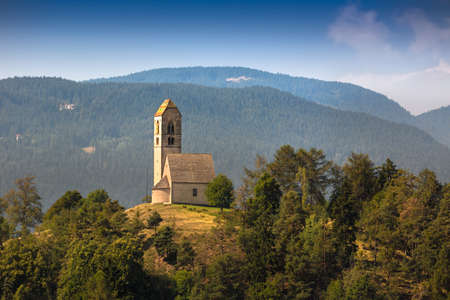 tyrol: Hilltop church in South Tyrol, Italy