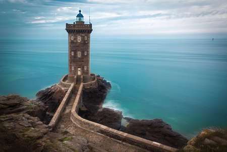 Lighthouse at Atlantic coast, Brittany, France