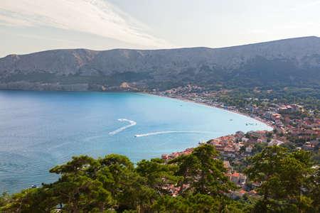 krk: Beach and bay at Krk Island, Croatia