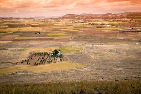 la: Rural landscape around Consuegra, Castile-La Mancha, Spain