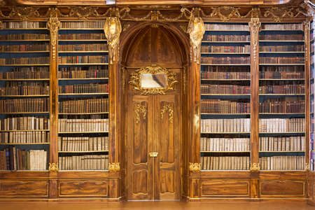 monasteries: PRAGUE, CZECH REPUBLIC - JANUARY 04, 2015: Philosophical Hall of the Strahov Monastery Library Editorial