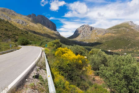 far off: Pass road in Andalusia, Spain
