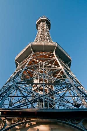 petrin hill observatory in prague, czech republic photo