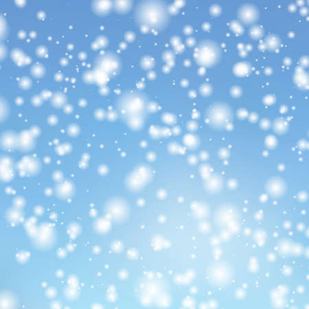 falling snow: Vector background with the image of falling snow in the sky. Decorating for Christmas cards and banners.