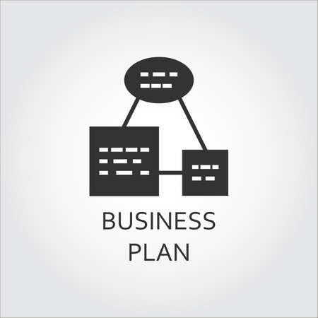 Business plan or algorithm of action, as scheme list. Simple black icon.  イラスト・ベクター素材