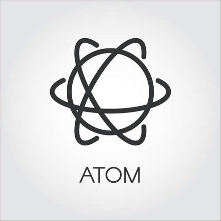 vector nuclear: Simple icon of atom. Chemistry, science concept Stock Photo