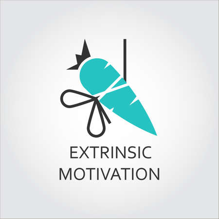 Icon of carrot, extrinsic motivation concept
