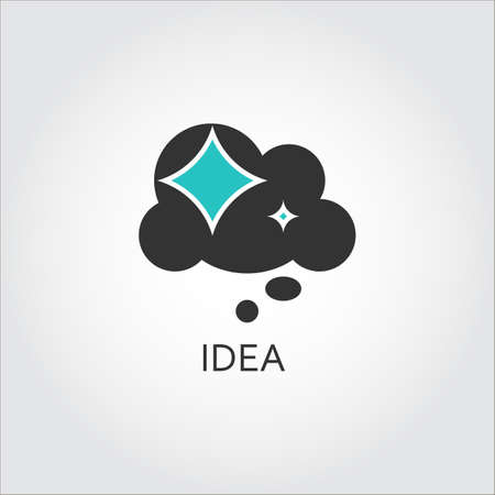 biz: Icon of star cloud, solution and idea concept