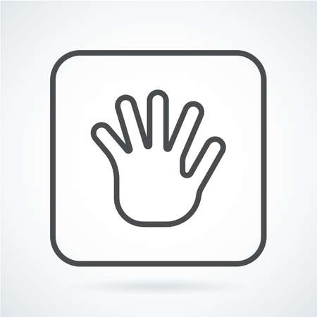 gestural: Black flat icon gesture hand of a human greeting palm