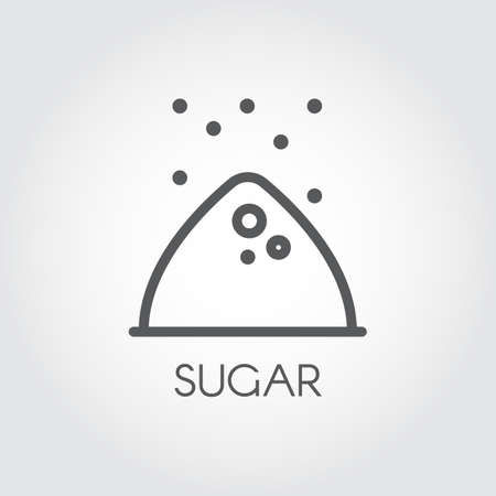 Contour icon of sugar bunch. Symbol drawing in line style for culinary theme vector illustration Ilustração