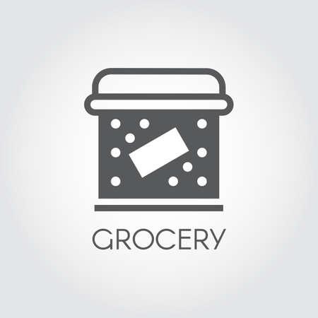 Food box flat icon.