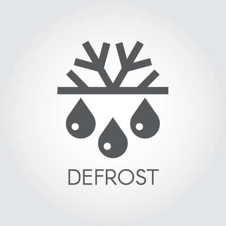 スノーフレーク ・ ドロップ」アイコン。霜取り、エアコン、季節の概念の変化のシンボル。  イラスト・ベクター素材