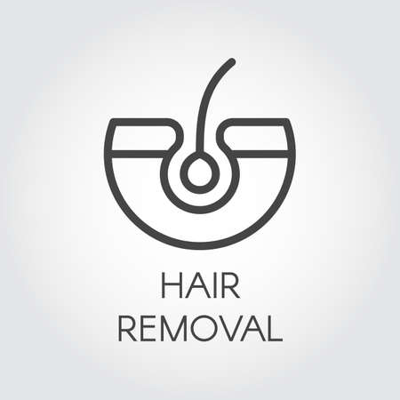 Hair removal line icon. Illustration