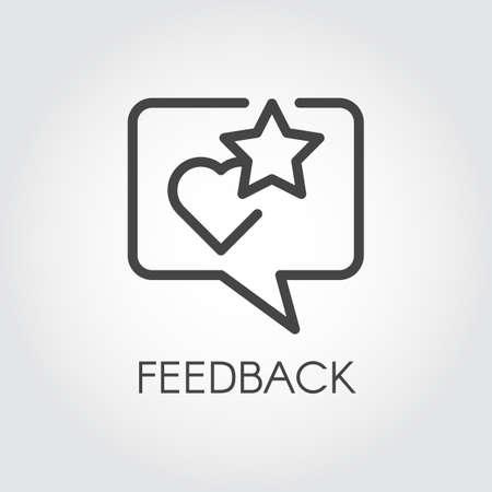 Feedback contour icon